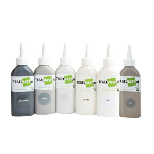 Tegelvast voegcoating 7710 losse flesjes in verschillende kleuren
